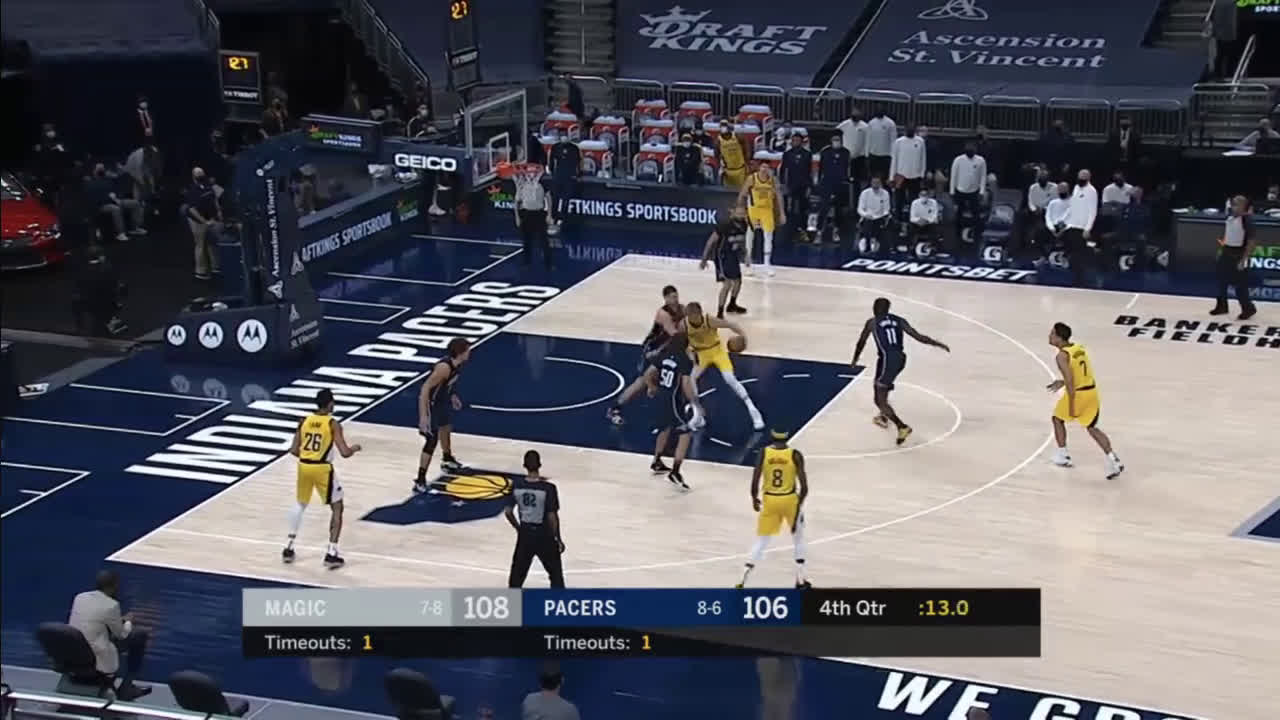 [Highlight] Sabonis ties the game at 108 with 10.6 left