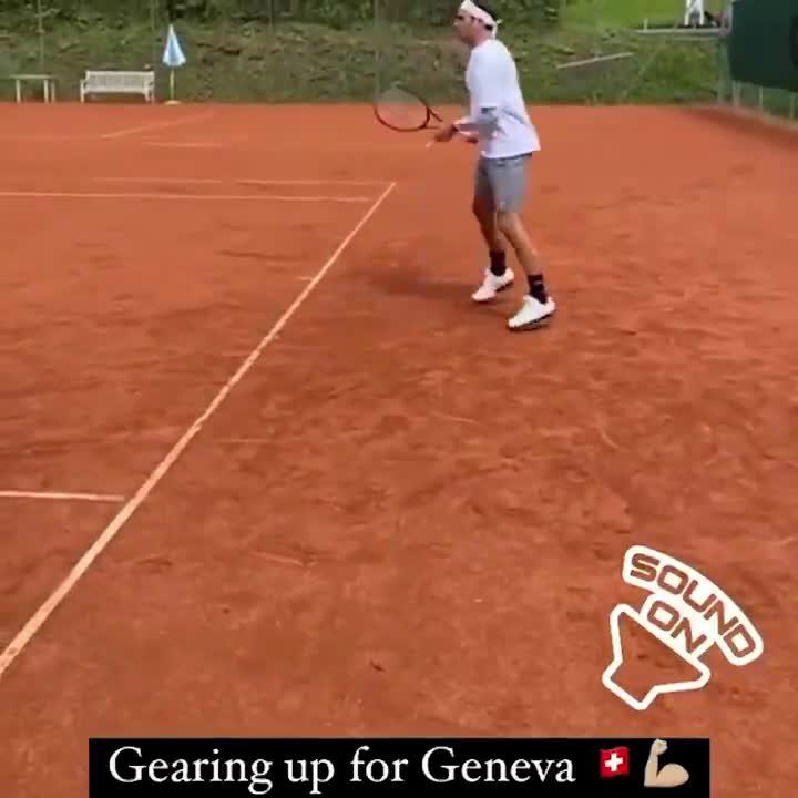 Roger Federer gearing up for Geneva Open