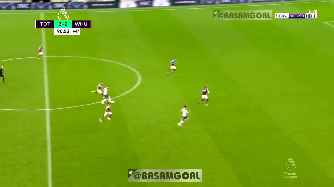 Bale chance 91' vs. West Ham