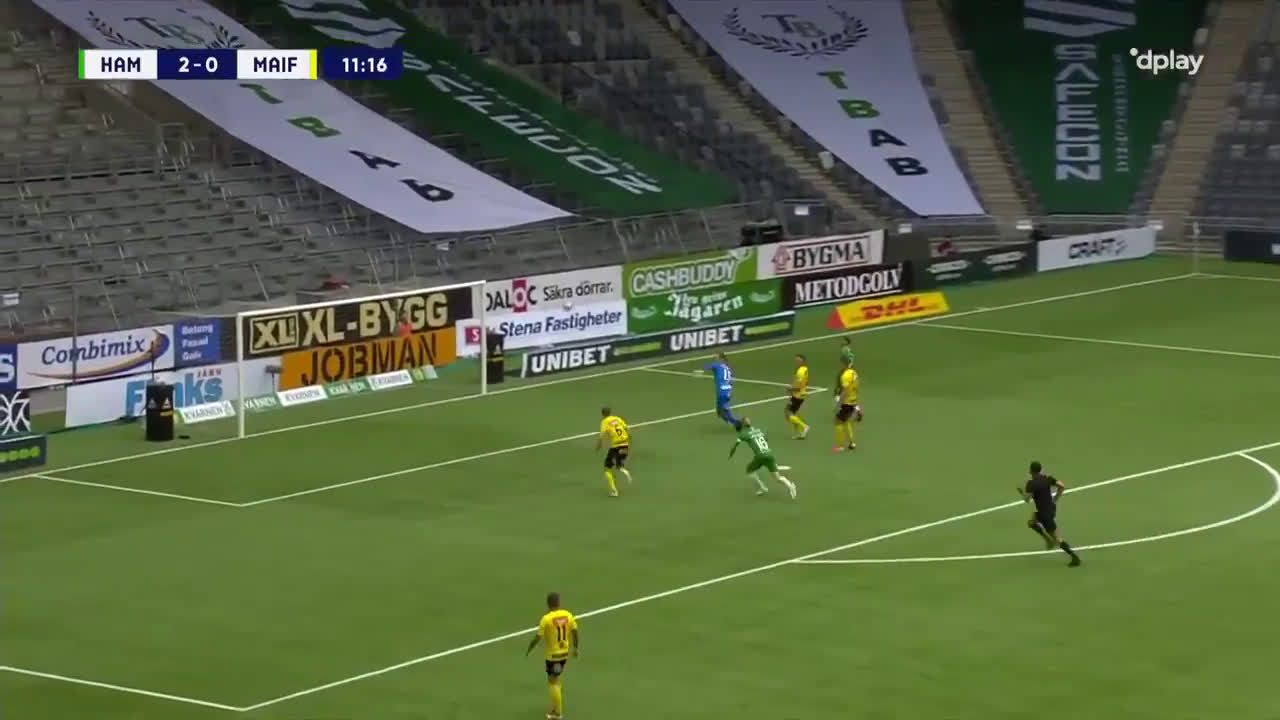 Hammarby IF [3]-0 Mjällby AIF - Gustav Ludwigson 12'