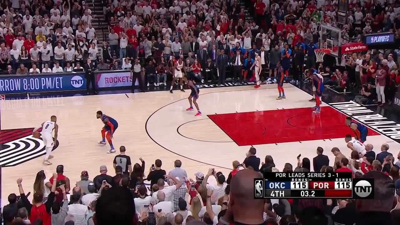 Damian Lillard nails one of the GREATEST playoff game winners of all time