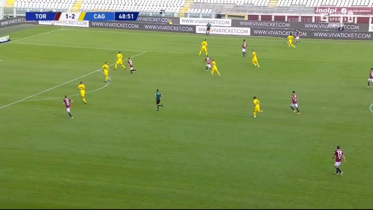 Torino [2]-2 Cagiari - Andrea Belotti 49'