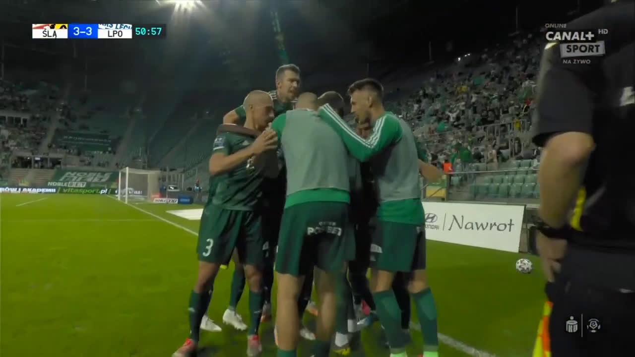 Śląsk Wrocław [3]-3 Lech Poznań - Róbert Pich PK 51' (Polish Ekstraklasa)