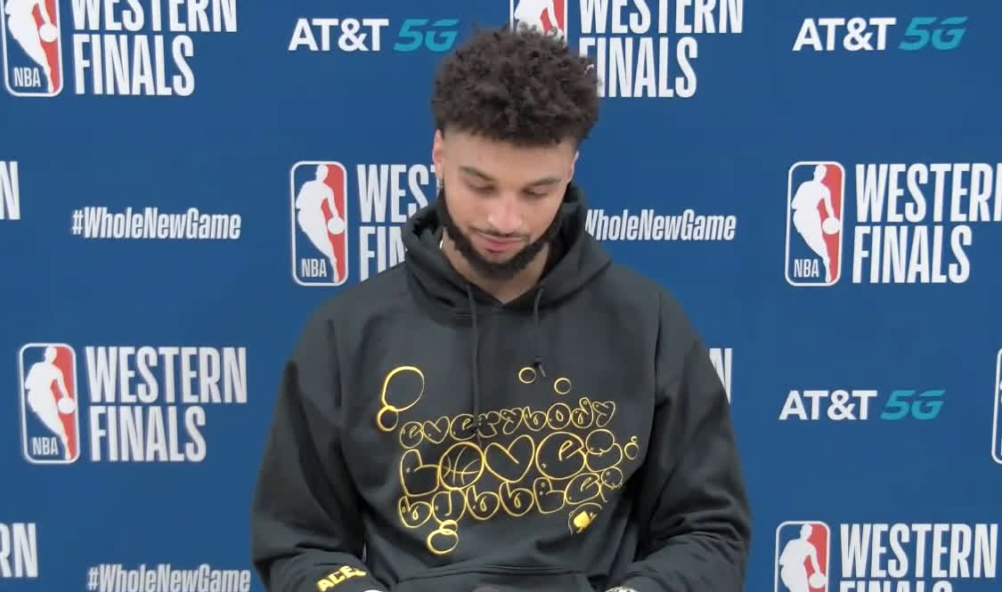 A deflated Jamal Murray answers question about his leg injury: