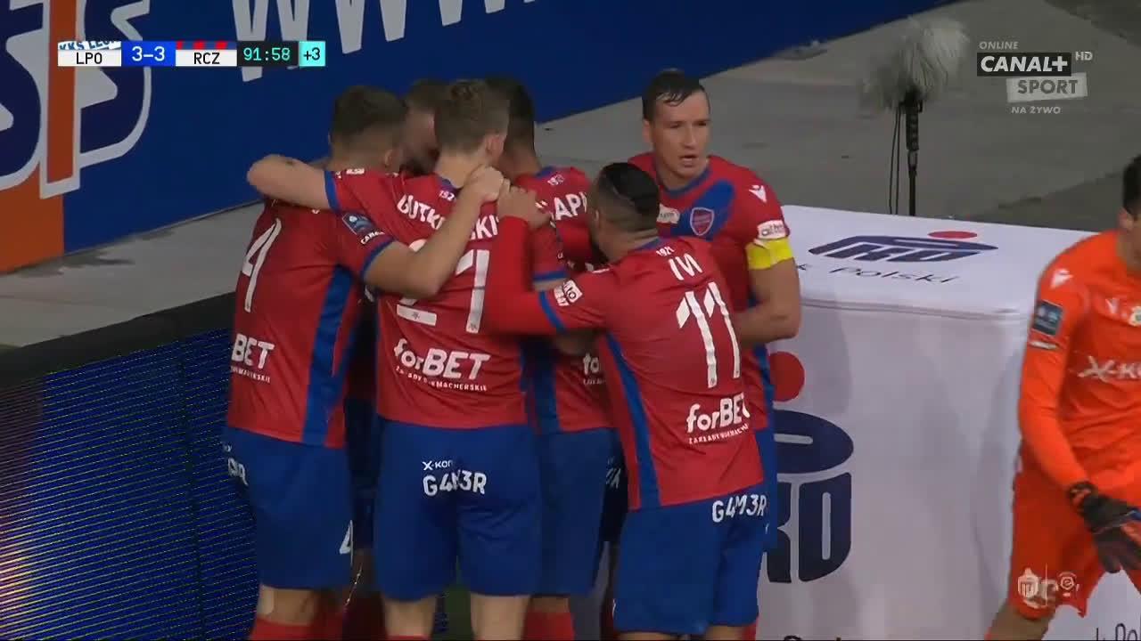 Lech Poznań 3-[3] Raków Częstochowa - Daniel Szelągowski 90+2' great goal (Polish Ekstraklasa)