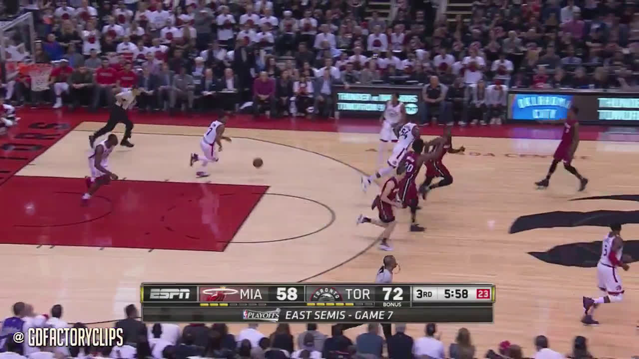 Kyle Lowry drops 35 and 9 ast in a G7 on Wade's Heat
