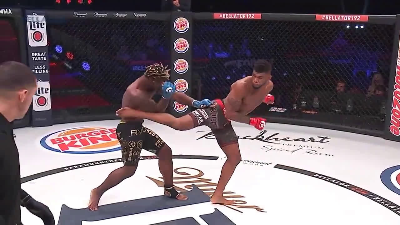 Welterweight super-prospect Joey Davis hits Ian Butler with a picture perfect spinning back kick (with slow motion replay)