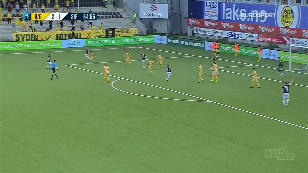 Bodø/Glimt 2-[2] Strømsgodset - Kristoffer Tokstad 66'