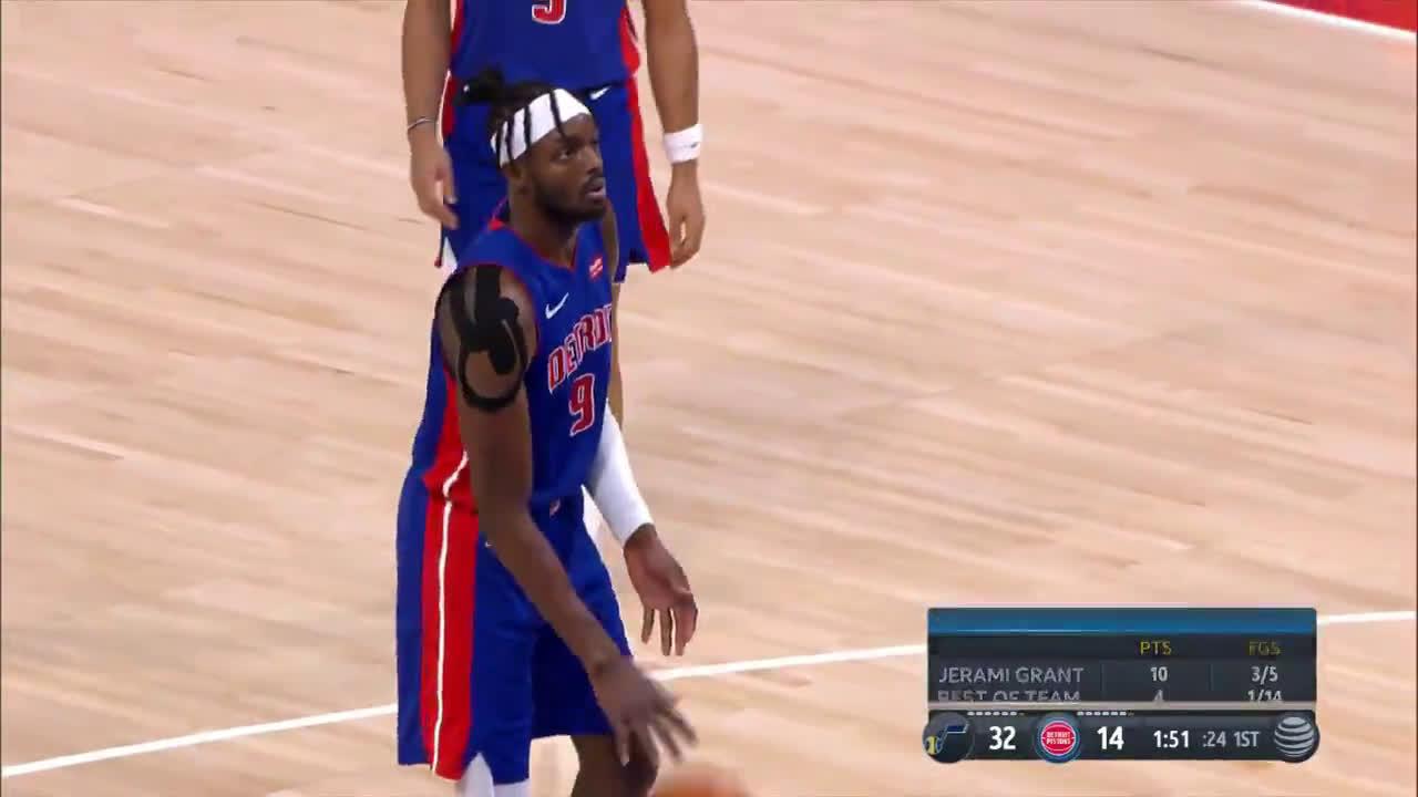 [Highlight] Utah Jazz broadcast calls Jerami Grant-led Pistons a
