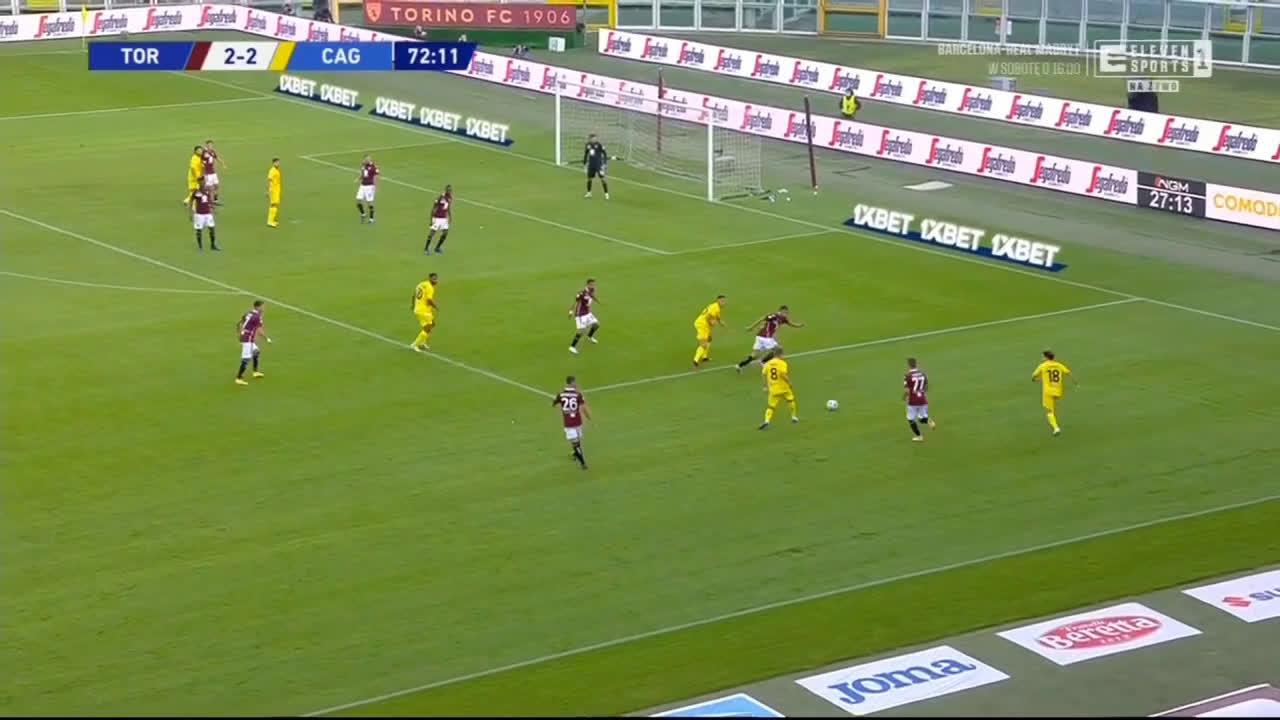 Torino 2-[3] Cagiari - Giovanni Simeone 73'