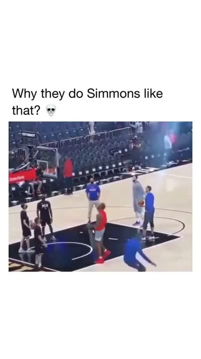 Ben Simmons hits a Free Throw in practice