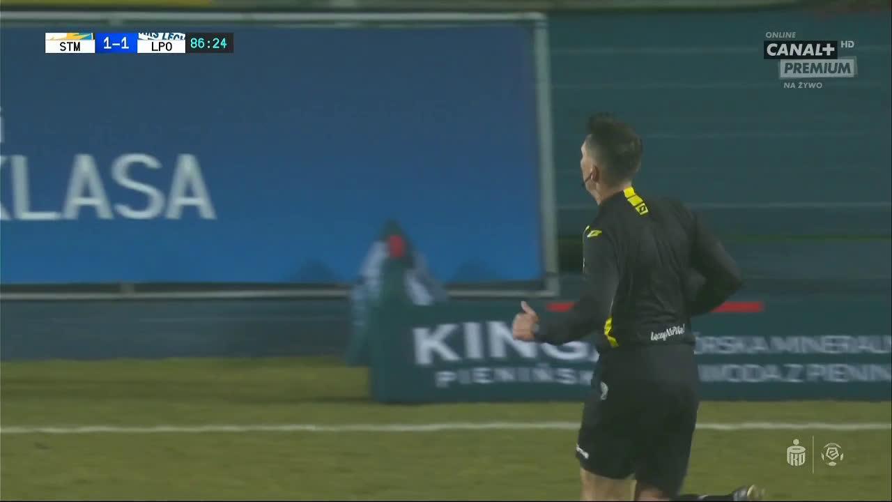 Stal Mielec 1-[1] Lech Poznań - Pedro Tiba 87' (Polish Ekstraklasa)