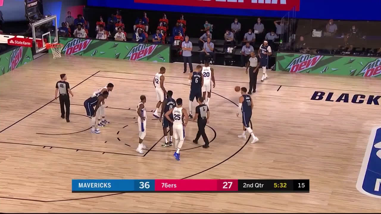 Luka Doncic Almost gets Beheaded by Rail Cam