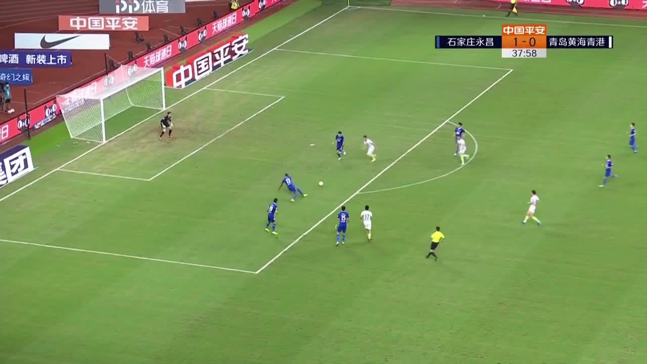 Shijiazhuang 1-(1) Qingdao Huanghai - Romain Alessandrini 1st goal