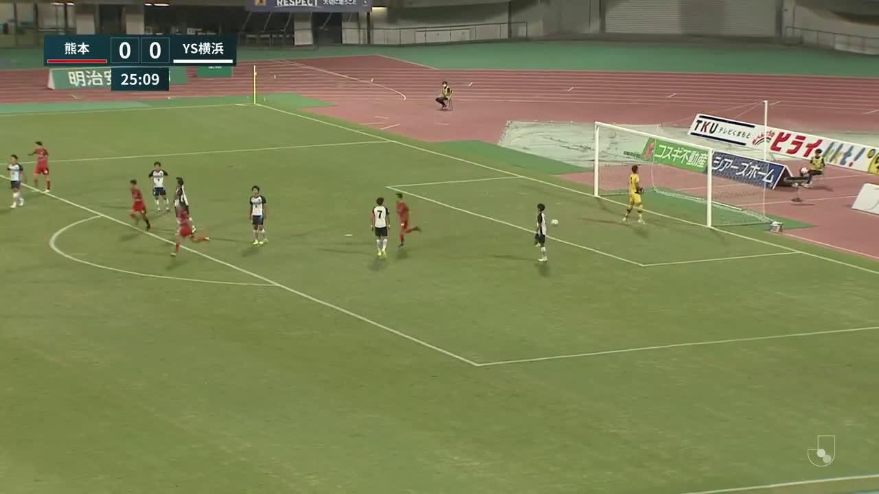 Roasso Kumamoto (1) - 0 Yokohama SCC - Hikaru Nakahara amazing long shot goal