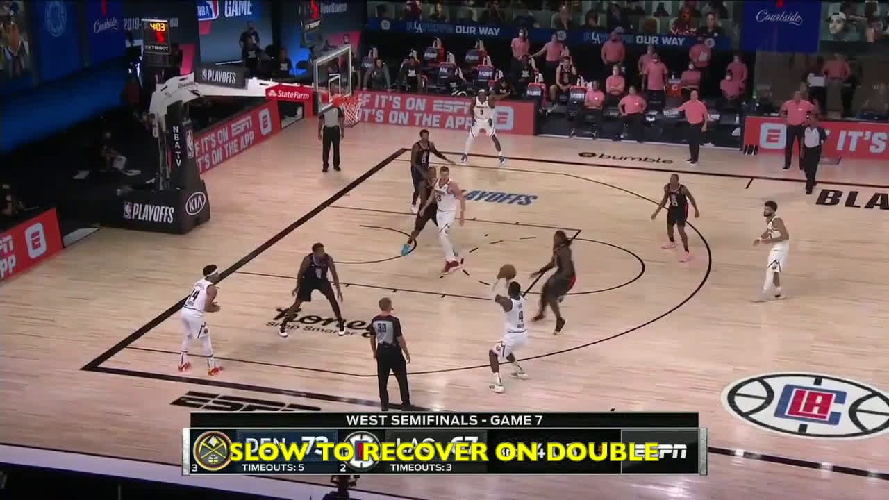 2 minutes of the modern day Rodman faring poorly against the Nuggets offense