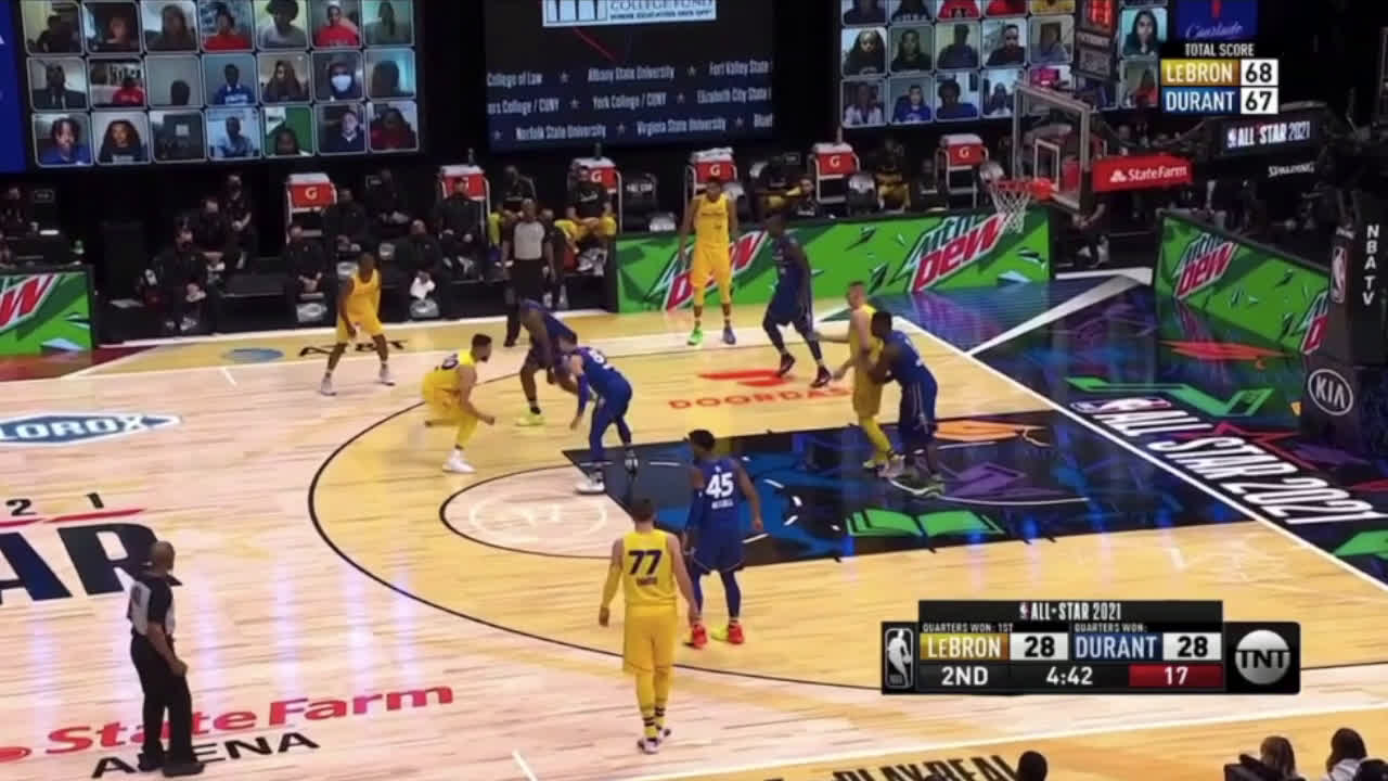 [Highlights] Curry already with crazy first half highlights in the ASG