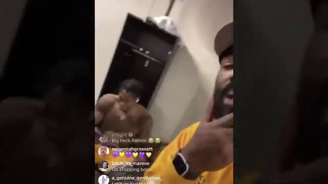 Lakers locker room celebration after winning game 5 and becoming Western Conference Champions