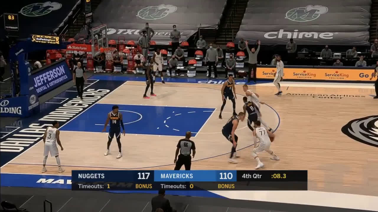 [Highlight] Luka knocks down the setback 3 over Jokic to cut the lead to 4