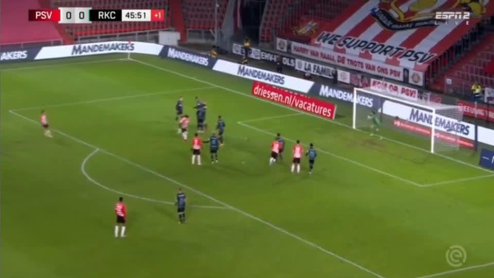 PSV Eindhoven - RKC Waalwijk 45' +2 1 - 0 Eran Zahavi