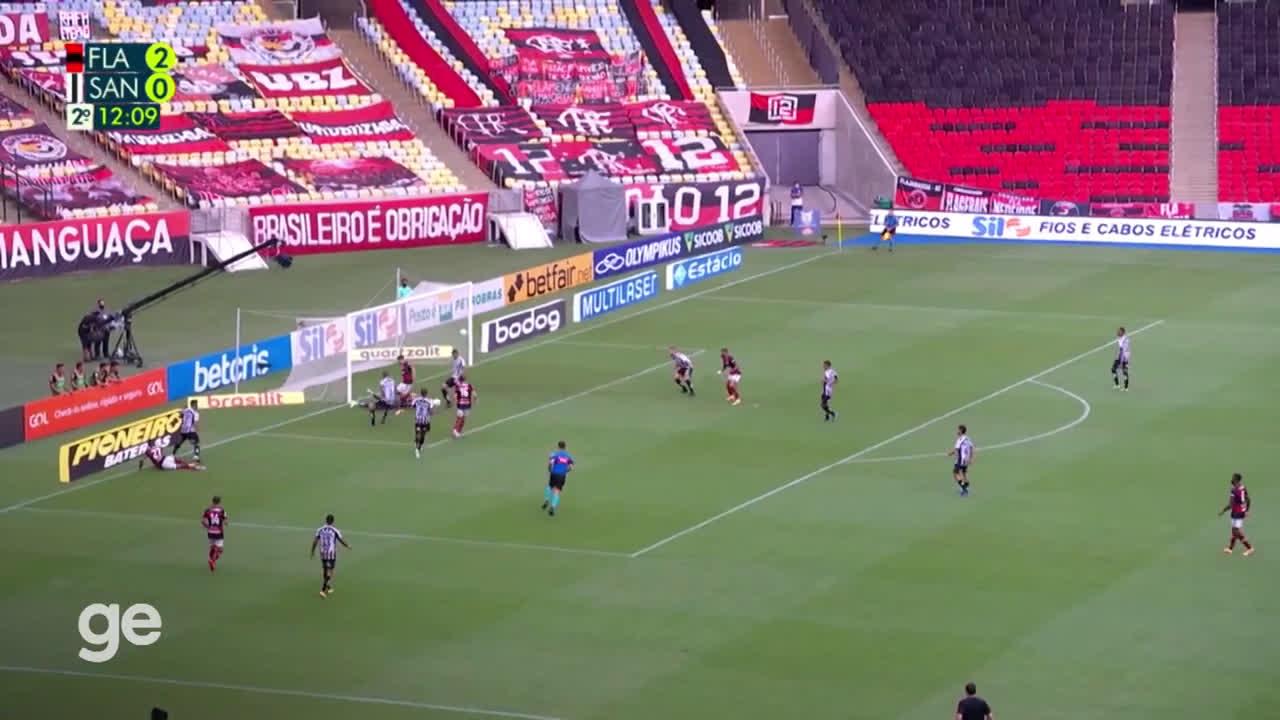 Flamengo (3)-0 Santos - Filipe Luis goal