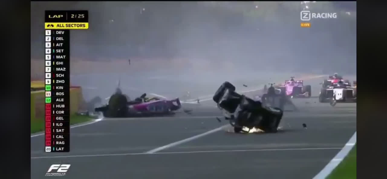 A Horrendous Crash In F2 In Spa Has Cancelled The Race