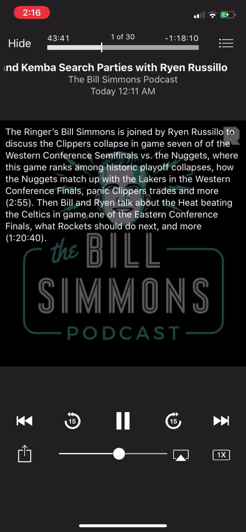 Bill Simmons saying LeBron is not the best playoff player and makes the case for Jokic as the best playoff player.