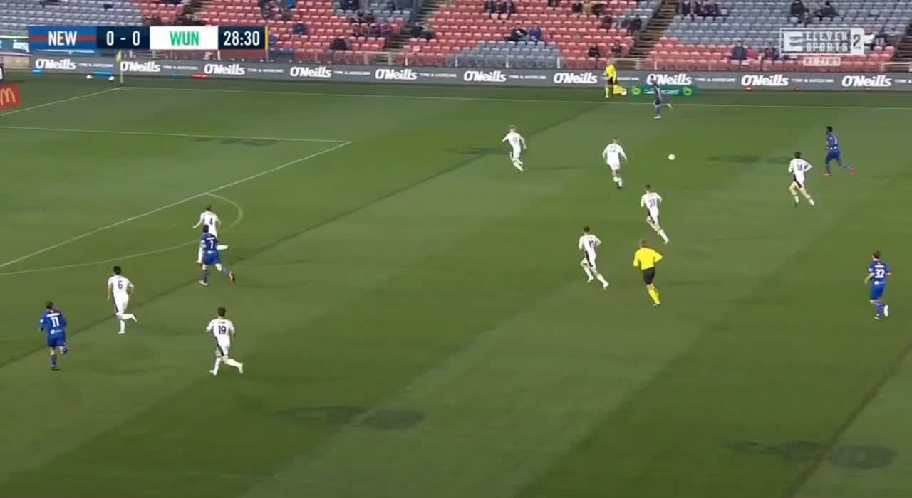 Newcastle Jets 1-0 Western United - Roy O'Donovan 29'