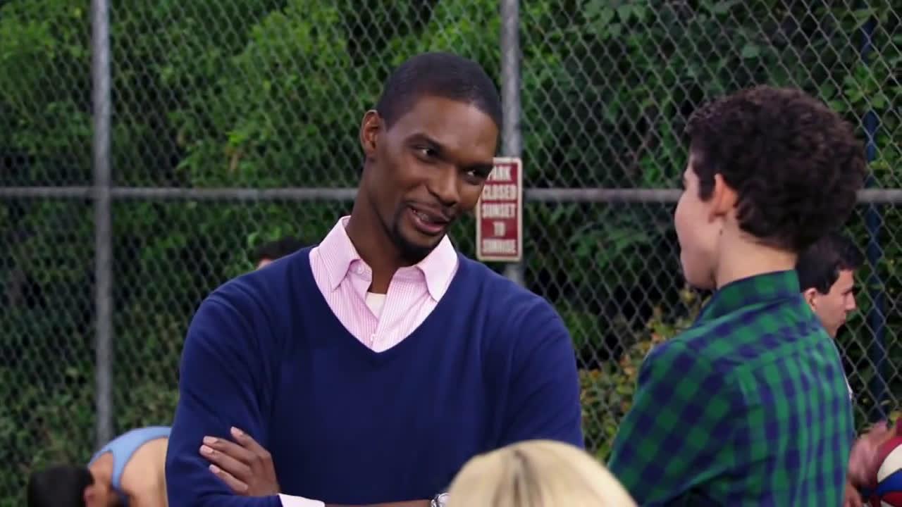 Chris Bosh confronts trash talking Knicks fan