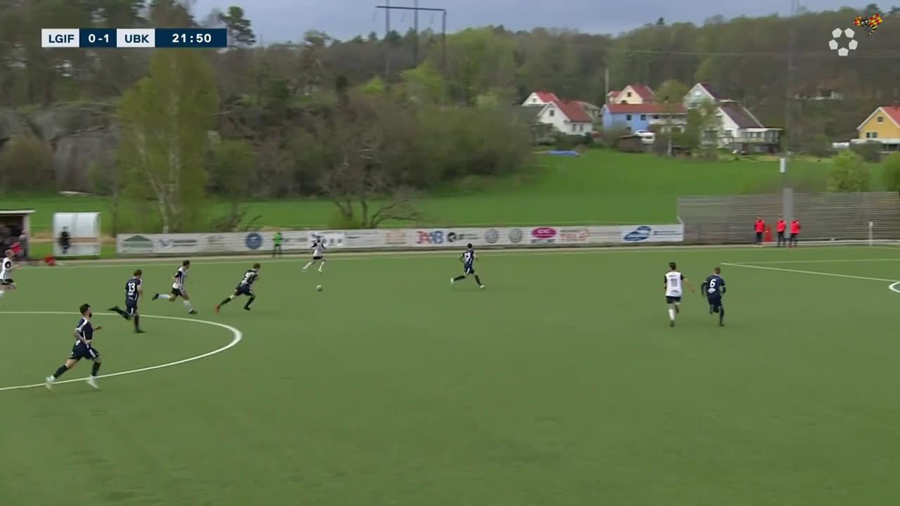 Lindome GIF - Utsiktens BK [1]-1 - Ihab Naser, 22' Fantastic goal!