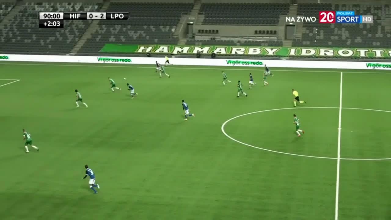 Hammarby 0-3 Lech Poznań - Filip Marchwiński 90+3'