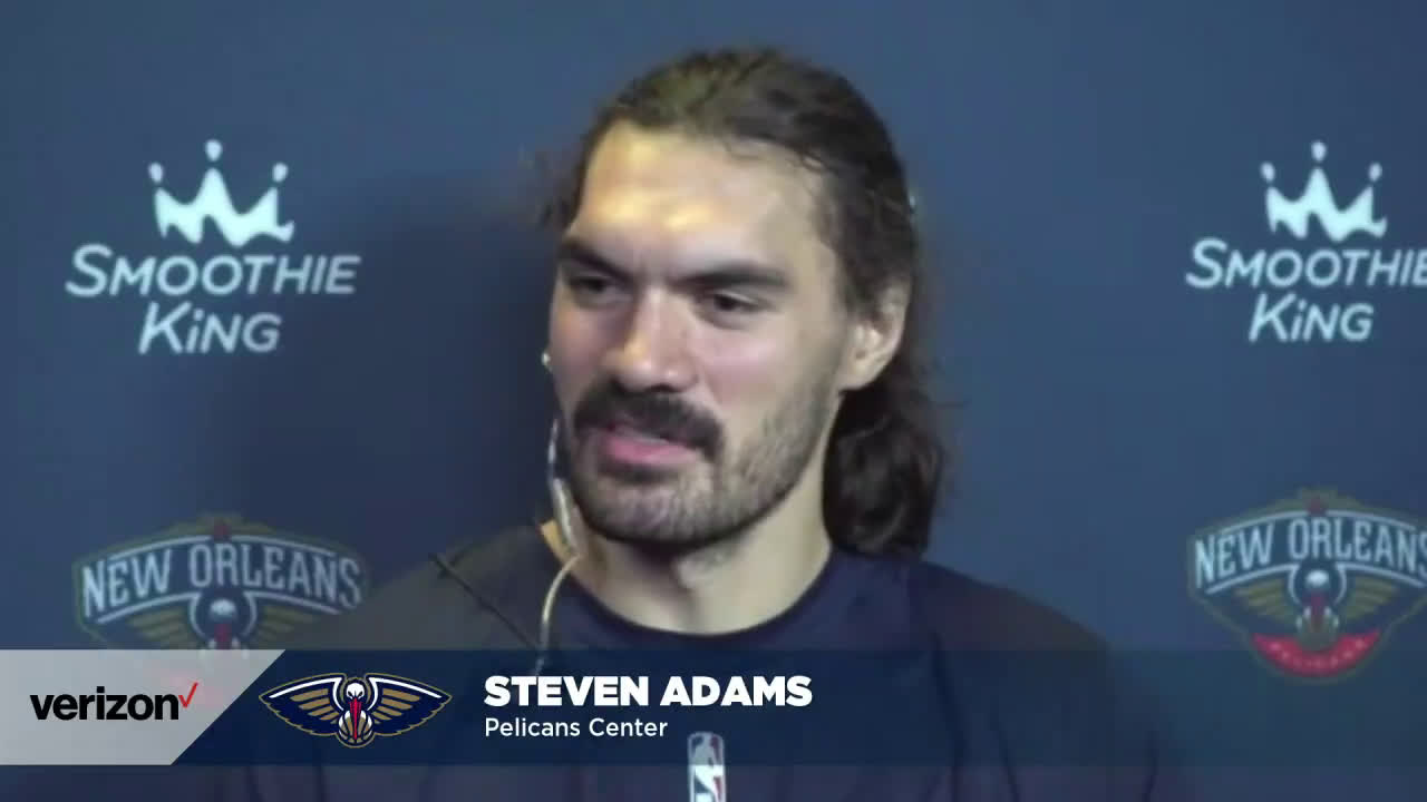 """Steven Adams on missing his Thunder teammates: """"Not like I died or anything, I'm going to see them again"""""""