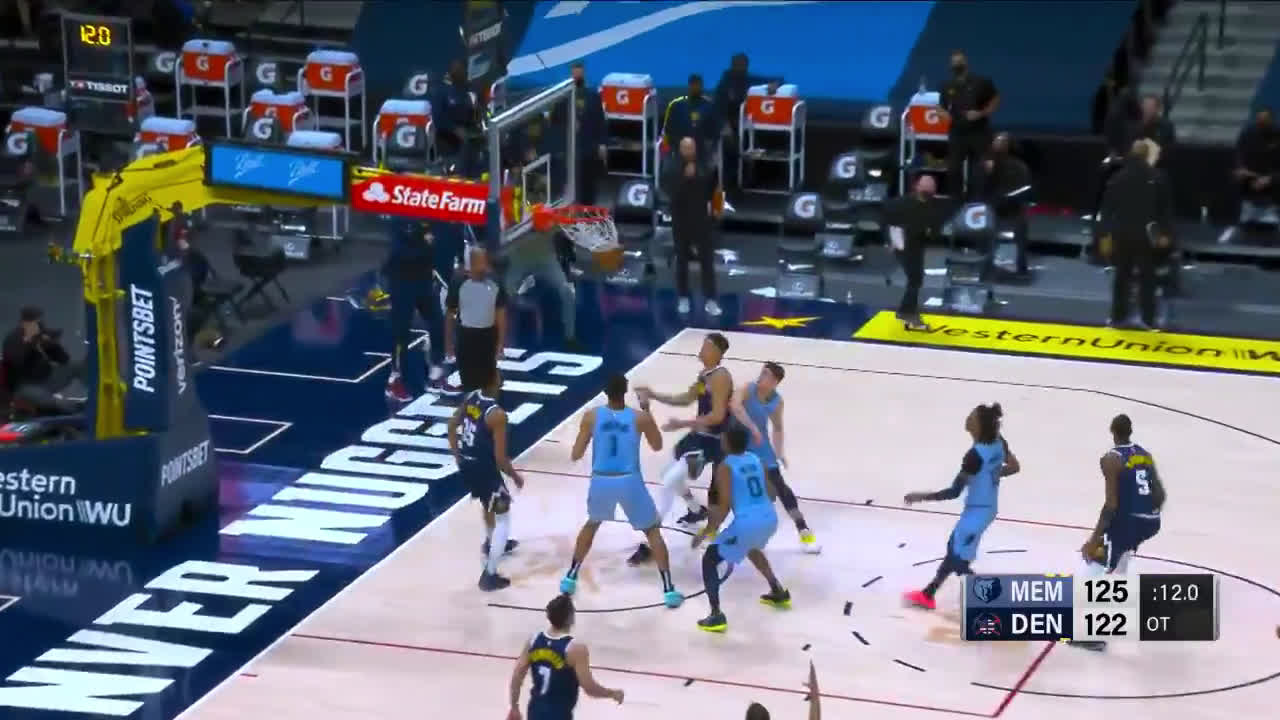 [Highlight] Will The Thrill Barton ties it up with 12 to go in OT