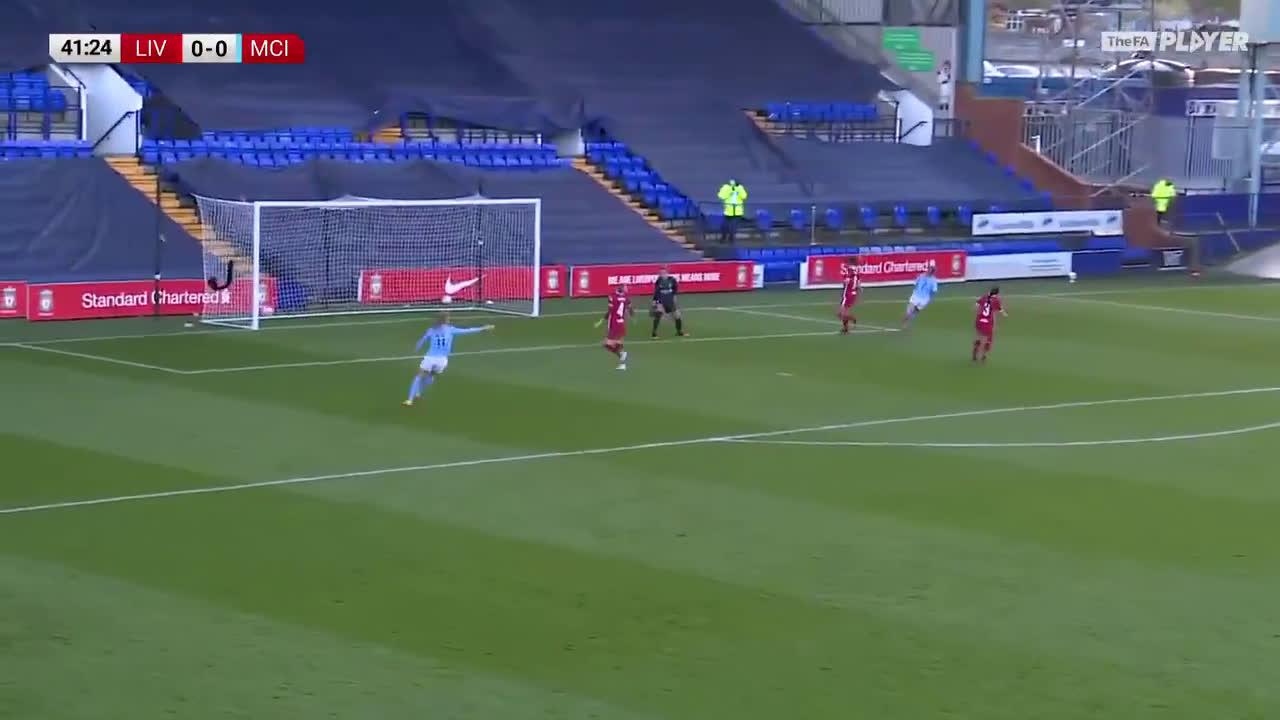 Man City 1-0 Liverpool - Laura Coombs 42' [Women's Super League]