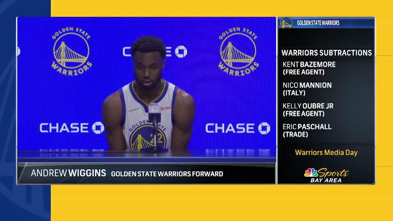 """[NBC Sports Bay Area] Wiggins says his """"back is definitely against the wall"""" but will keep fighting for what he believes is right in regards to the COVID-19 vaccine"""