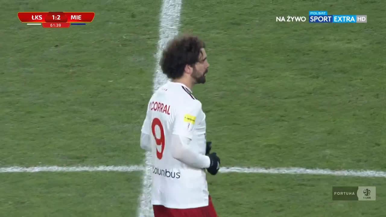 ŁKS Łódź [1]-2 Miedź Legnica - Pirulo FK 62' (Polish I liga)