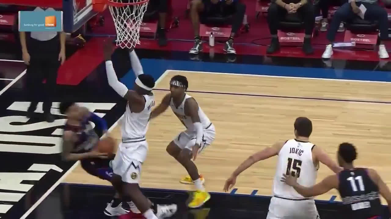 Barton's behind the back pass leads to a Jokic SLAM