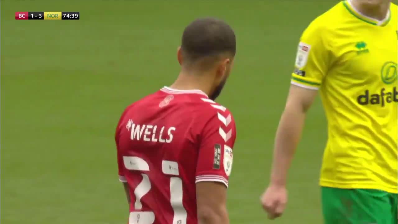 Bristol City 1-3 Norwich City - Wells Panenka Penalty Miss 75'