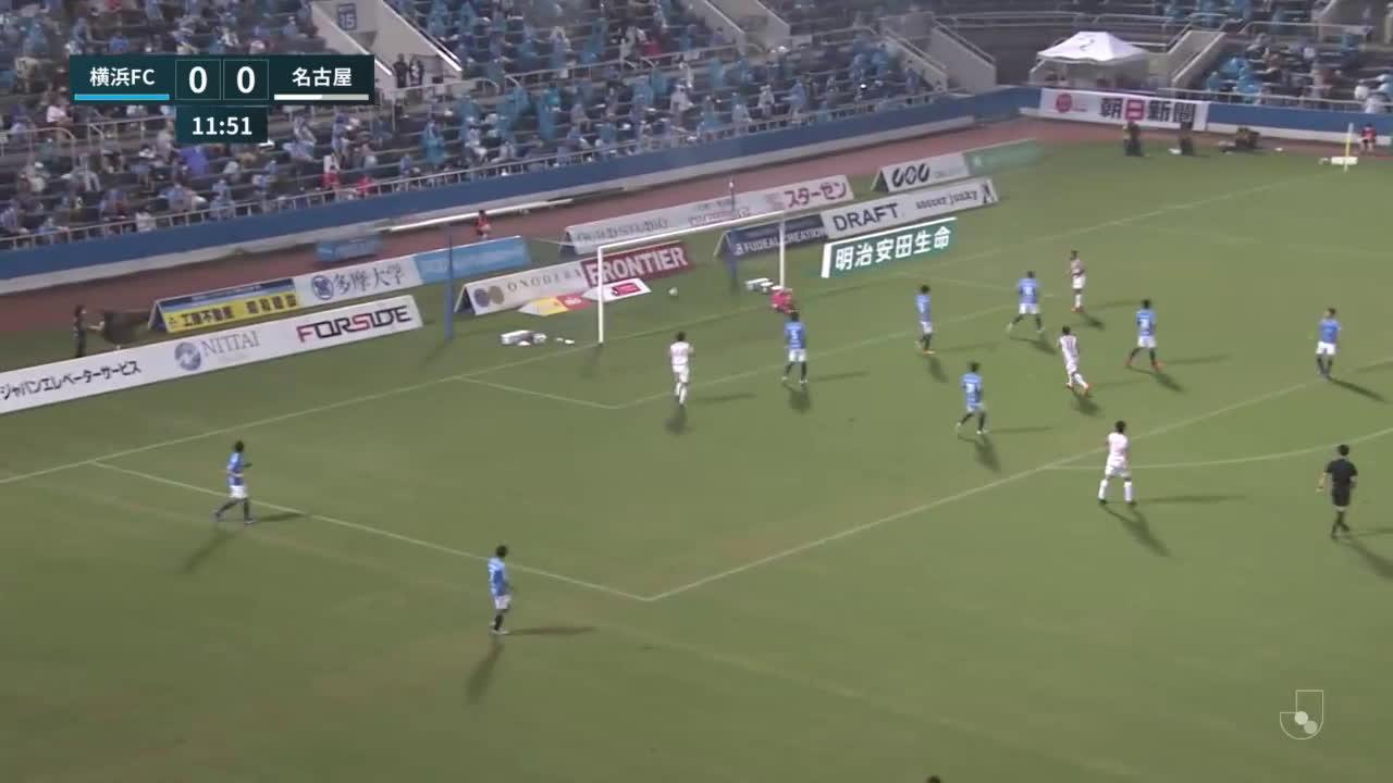 Yokohama FC 0-(1) Nagoya Grampus - Yutaka Yoshida great goal (banger)