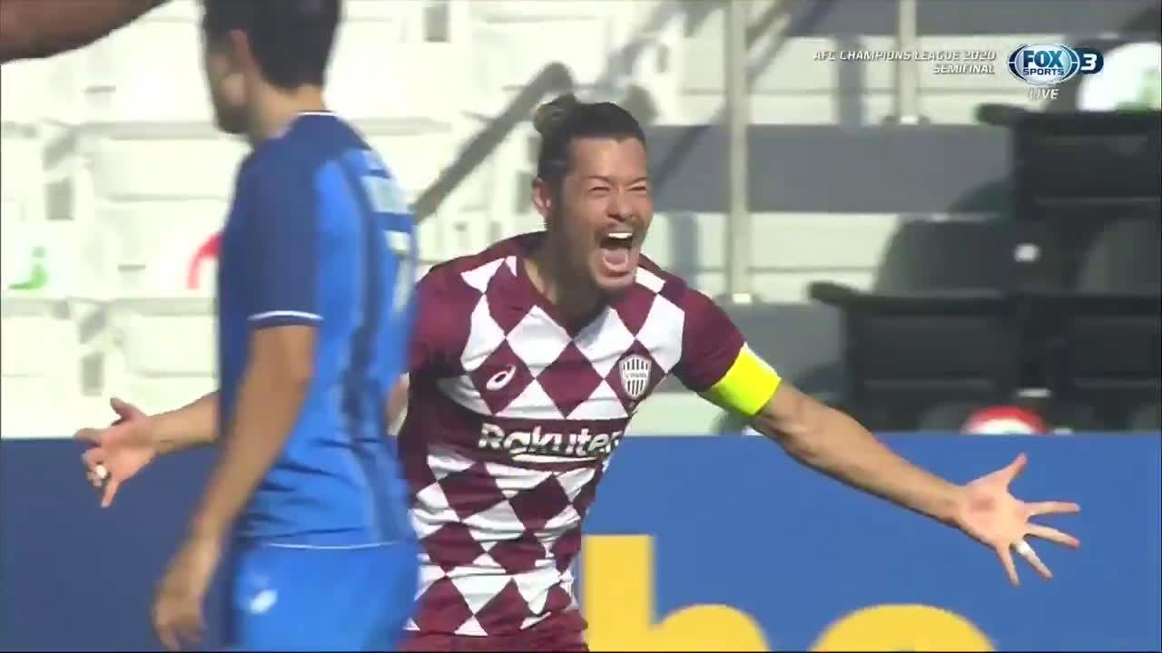 Ulsan Hyundai 0-(1) Vissel Kobe - Hotaru Yamaguchi goal (nice set piece goal)