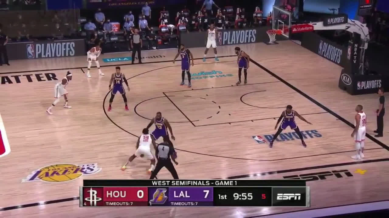 James Harden leaves Lebron in the dust with a simple crossover