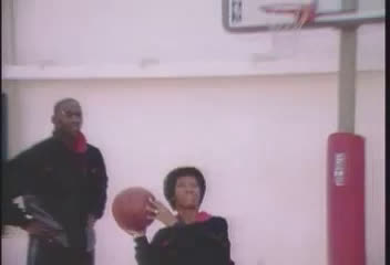 Michael Jordan's Mom shows him how to Shoot and Dunk the Ball