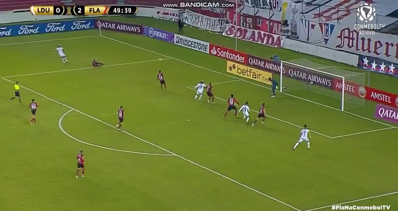 LDU [1] - 2 Flamengo - C. Borja 50'