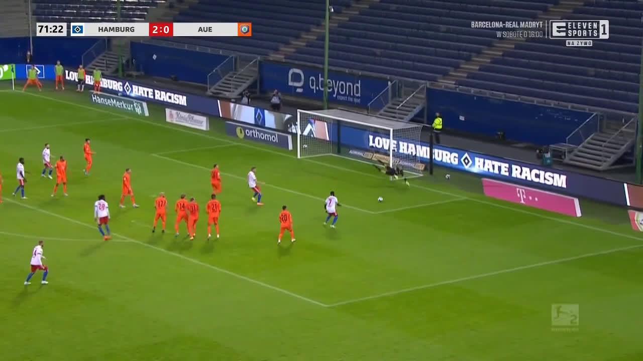 Hamburger SV 3-0 Erzgebirge Aue - Khaled Narey 72'