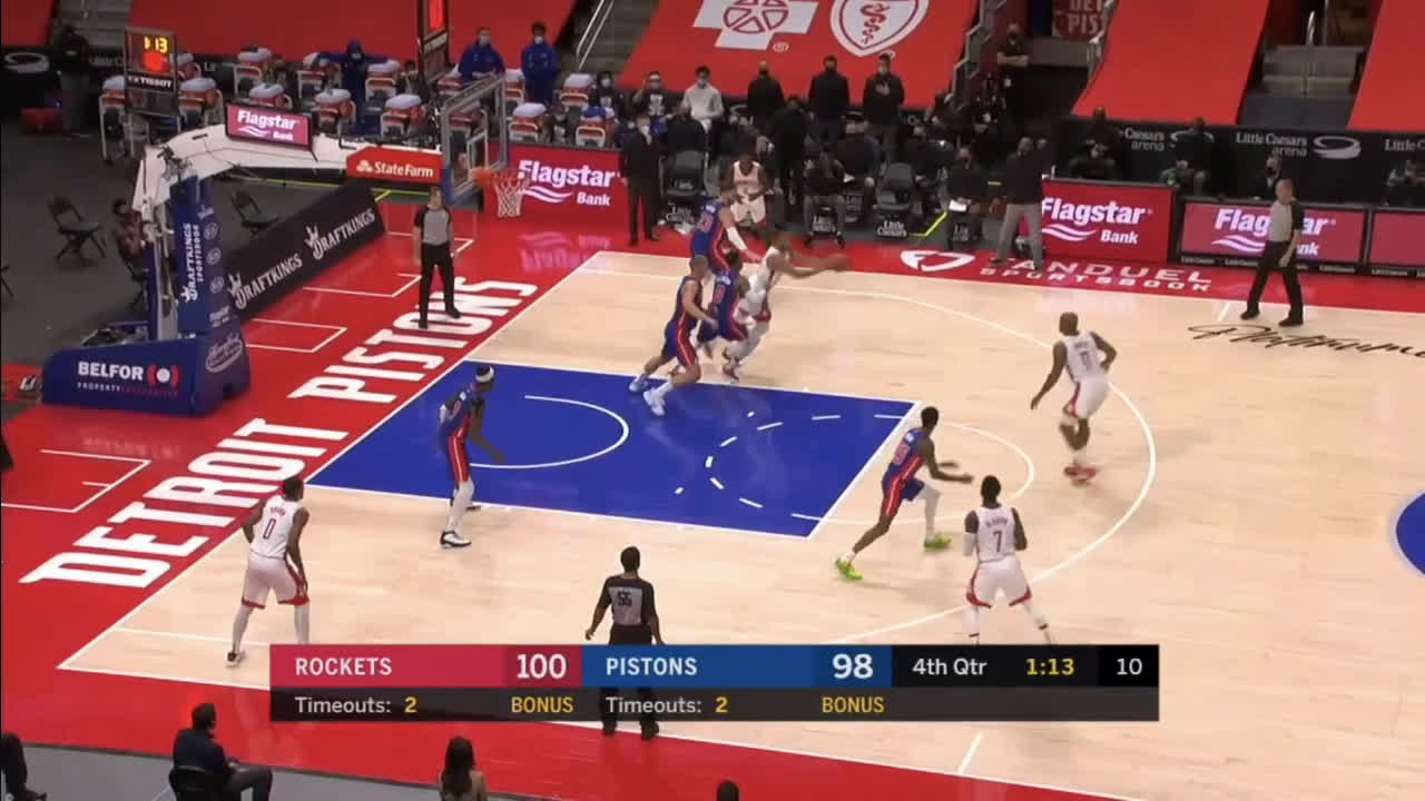 [Highlight] Plumlee comes up clutch for the Rockets in the closing minutes