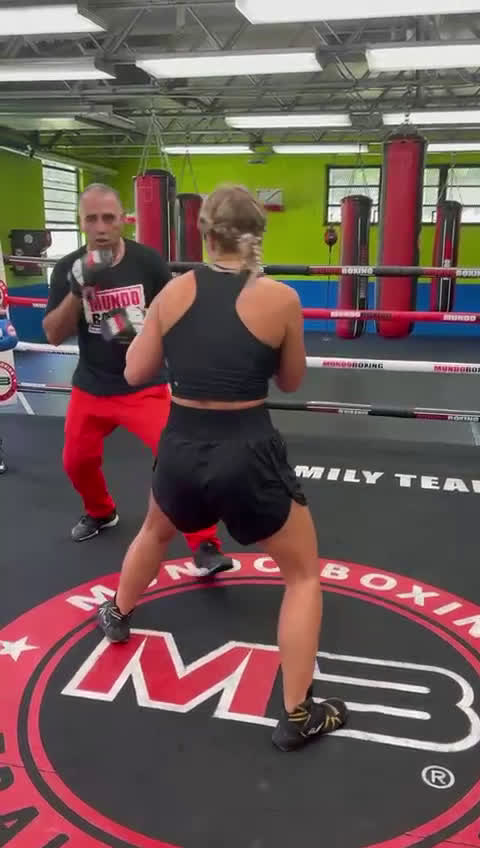BTS Paige VanZant training.