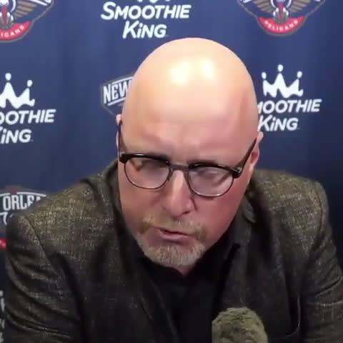 Pelicans' David Griffin blames officiating for Zion Williamson's broken finger