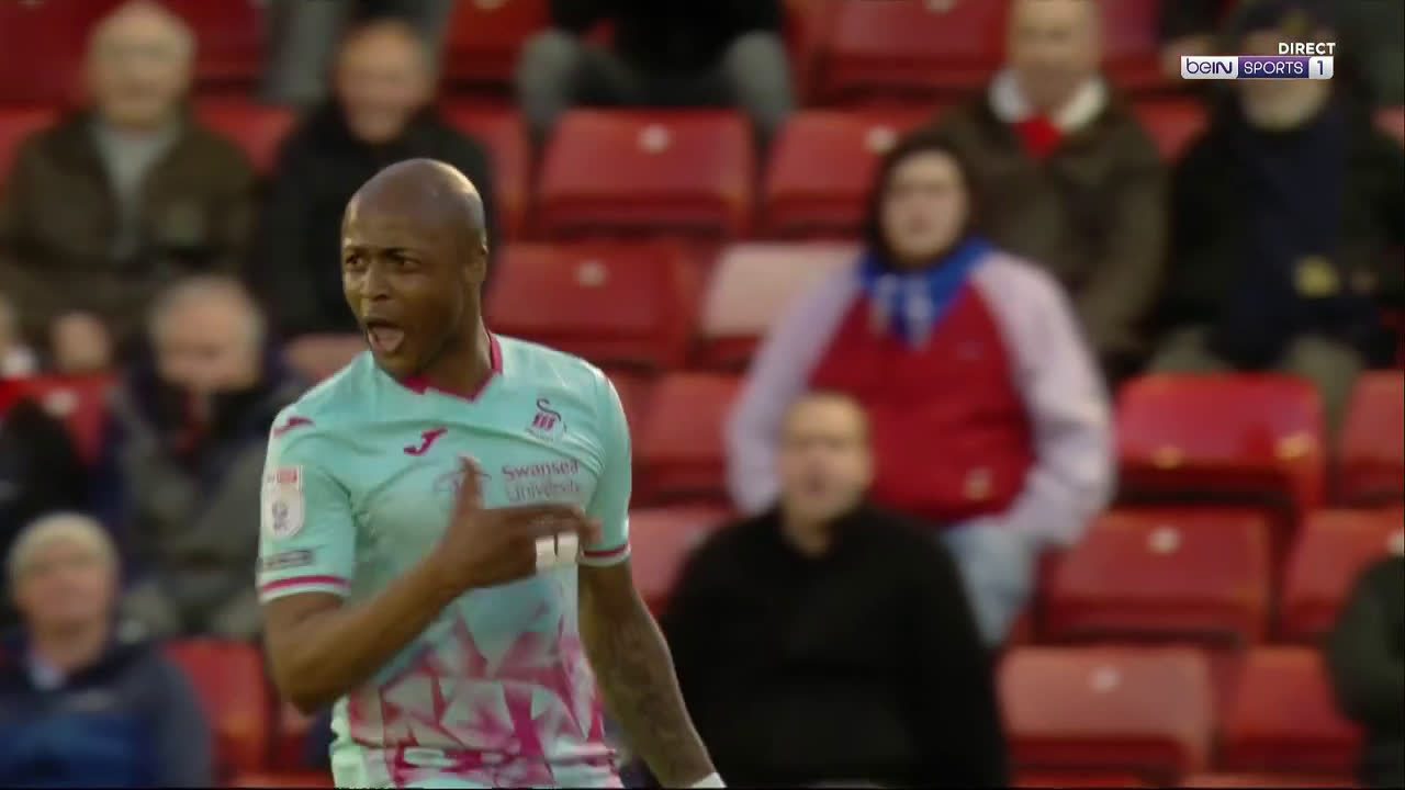 Barnsley 0 - [1] Swansea - André Ayew great strike 39'
