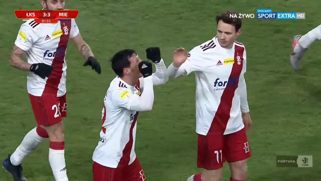 [Ekstraklasaboners] ŁKS Łódź [3]-3 Miedź Legnica - Dragoljub Srnić 82' (Polish I liga)