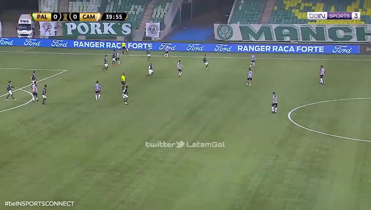 Hulk's (Atlético-MG) penalty call+miss against Palmeiras 42' | Copa Libertadores